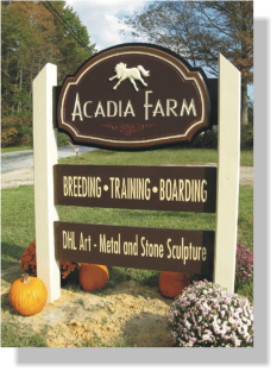 Horse farm signs in Woodstown